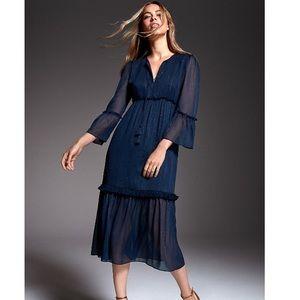 Zoe by Rachel Zoe Metallic Chiffon Midi Dress XL
